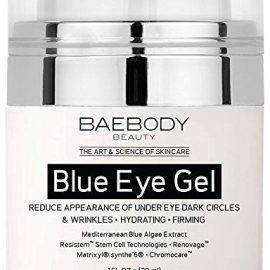 Features REDUCE PUFFINESS AND DARK CIRCLES - Our Eye Cream Helps Reduce Puffiness, Dark Circles, Crow's Feet, Eye Bags, Fine Lines, and Sagginess Under and Around the Eyes. RESTORE AND REJUVENATE - Moisturize and Hydrate Dry Under Eye Skin While Fighting Signs Of Aging. Use Day and Night to Reveal A Brighter and Younger Looking You. SUPER ANTI AGING EYE GEL - Blue Algae Extract Strengthen Skin to Protect Against Sun Damage and Aging. SAFE NATURAL INGREDIENTS - No Fillers, Harmful Fragrances, Dyes or Parabens. Manufactured in a GMP Certified and FDA Registered Facility. Our Products are CRUELTY FREE and Not Tested on Animals. RISK-FREE MONEY BACK GUARANTEE - If You Are Not Completely Satisfied, Simply Contact Us And We Will Give You A Full Refund, No Questions Asked! Product Dimensions: 2.99 x 4.02 x 2.99 in Weight: 0.3 lb Everyone wants to look their best. You want to turn back time and achieve the youthful skin you see in old photos. Luckily for you, we have a solution. Baebody is a beauty and lifestyle brand with a desire to promote a natural, healthy and beautiful lifestyle. We want you to look and feel fabulous! Baebody Blue Eye Gel is a unique blend with Blue Algae Extract that Helps Reduce Puffiness, Dark Circles, Crow's Feet, Eye Bags, Fine Lines, and Sagginess Under and Around the Eyes. WHAT SETS US APART? Besides being tried and true, we've found a healthy and natural way to achieve your desired skin. Our products are made from only the best natural ingredients and organic infusions. The ingredients we use are designed to help you achieve a youthful glow. Our products are manufactured in the United States in a GMP Certified and FDA Registered Facility. Our product is Cruelty Free and Not Tested On Animals.