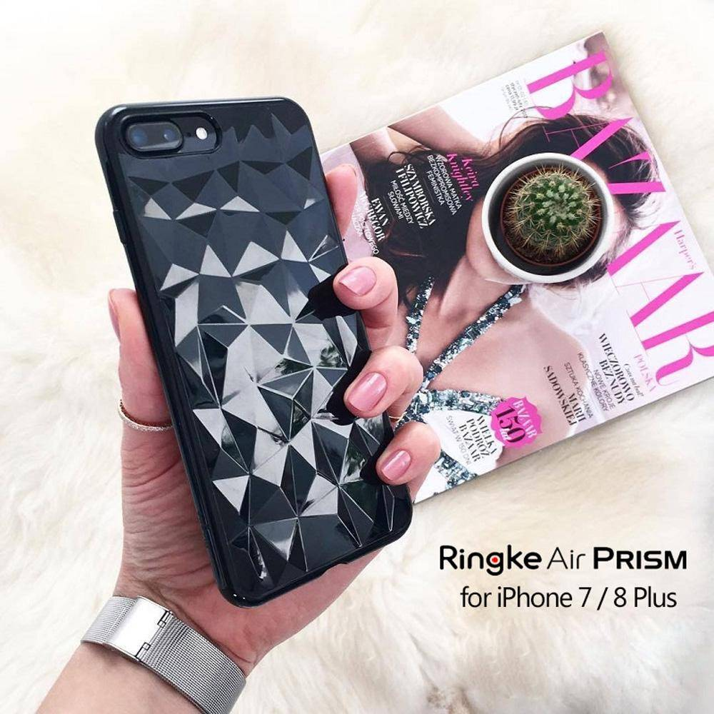 Ringke Air Prism Case For Iphone 7 8 Plus Flexible Tpu 3d Ink Black Fast Shipping