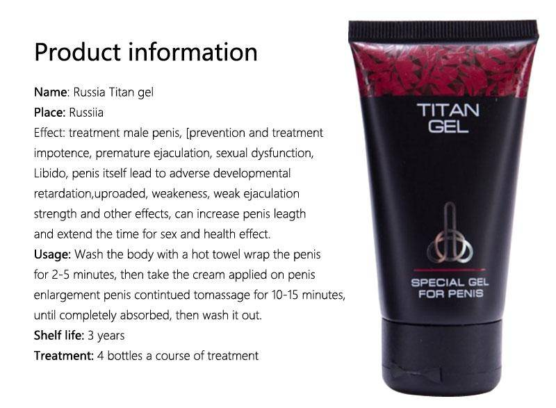 russian titan gel penis enlargement cream xxl imported for external