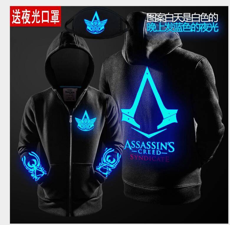 Assassins Creed Hoodie Glow In The Dark
