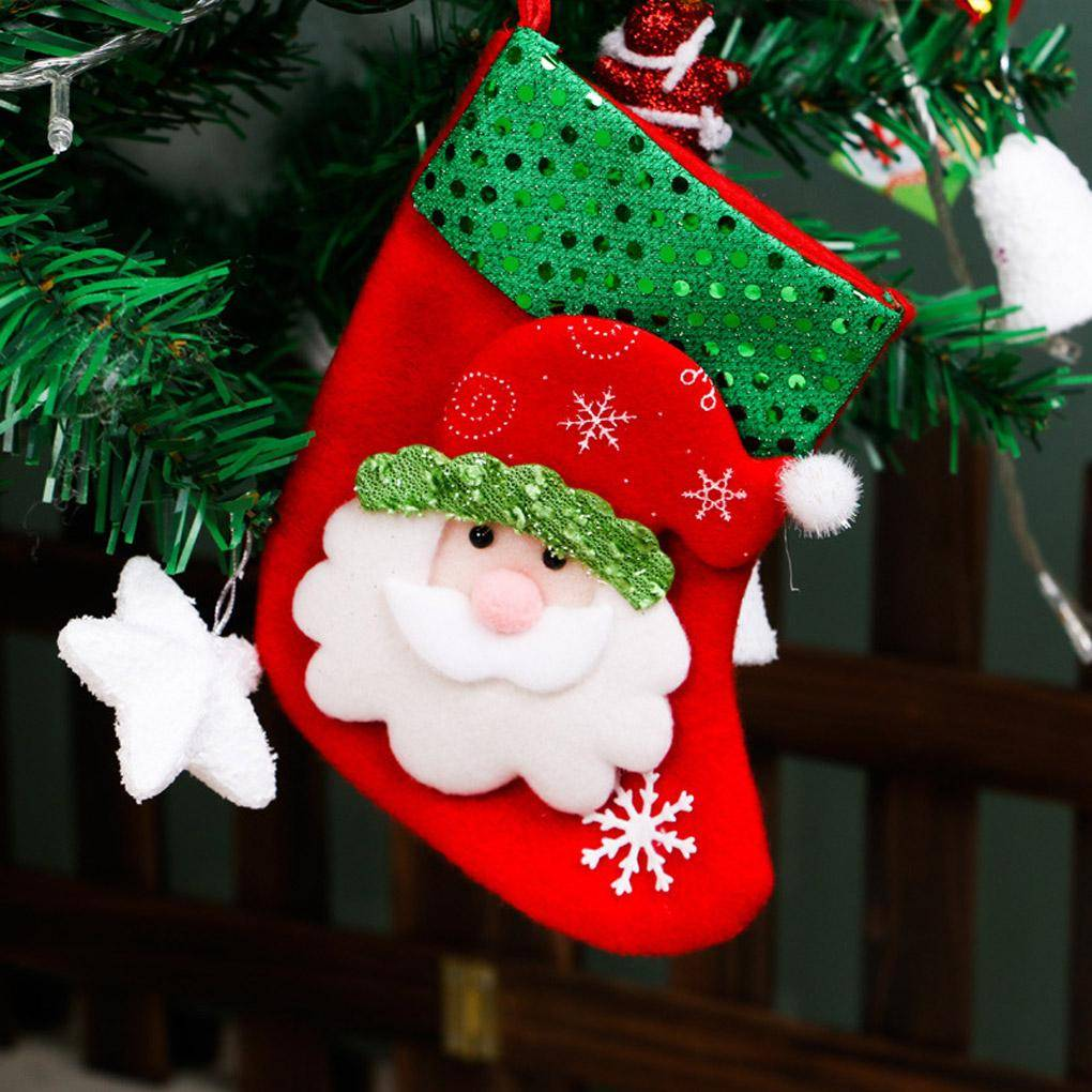 Christmas Tree Decorations Hang Candy Socks Xmas Stockings For Kids ...