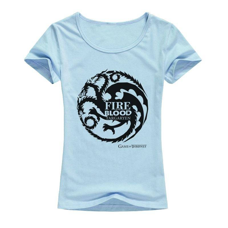 c4e73688d Game of Thrones T Shirts Women Cool Tees Shirts Female Tops Elastic Cotton  Casual